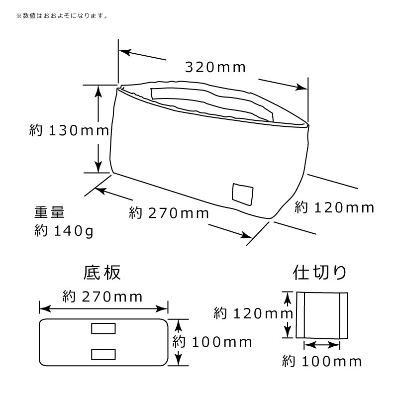 DSLR camera bag inner bag soft cushion box made in Japan MOUTH Delicious case MJC12024 NAVY/ORANGE