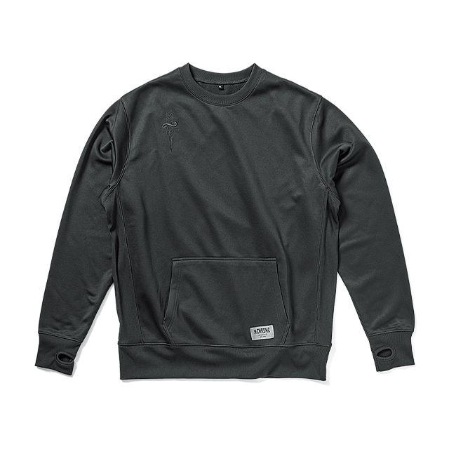 【30%OFF SALE】 クローム テックスウェットクルー CHROME TECH SWEAT CREW BLACK JP121BK