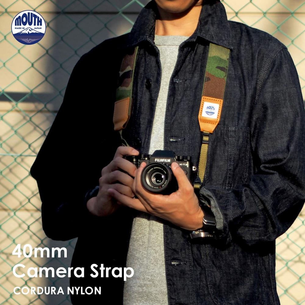 カメラストラップ 一眼レフ ミラーレス 40ミリ Delicious 出荷 Camera Strap MJC13031-40mm MOUTH マウス CORDURA コーデュラナイロン お求めやすく価格改定 おしゃれ キャンバス 日本製 カメラ かわいい 男女兼用 ネックストラップ カメラ女子 帆布
