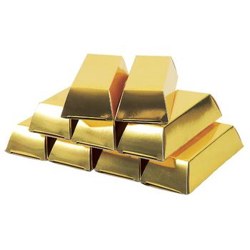 ゴールドボックス(金塊ティッシュ)30W名入れ無し既製品(ゴールドBOX) 1セット100個入り【バラエティティッシュ/ノベルティ・販促に】