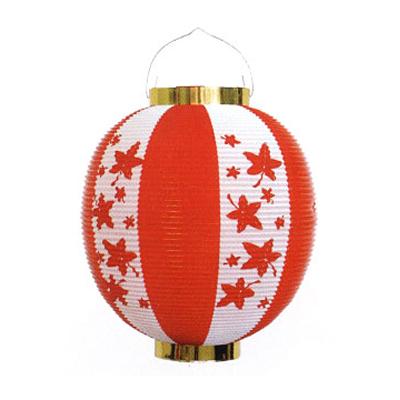 お祭り定番の提灯 10個以上~ T1MO 尺丸 もみじ柄 激安通販 在庫限り Φ25.5×H27cm ポリ提灯 ポリ製 ちょうちん