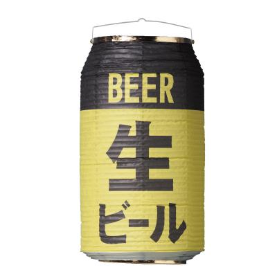 T5753 生ビール 24×31cm 缶型提灯(和紙)【ちょうちん(室内装飾向け)】