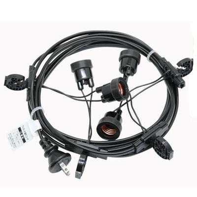 【国産品】T8648-4 提灯コード 4灯式※簡易防水型【ちょうちん用】
