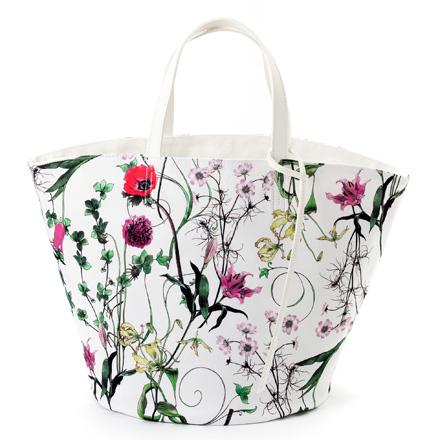 マルシェバッグ・リバーシブル(ラージサイズ) ボタニカルイノセンス ボタニカル柄 花柄 バッグ 北欧デザイン マザーズ バッグ 北欧 おしゃれ