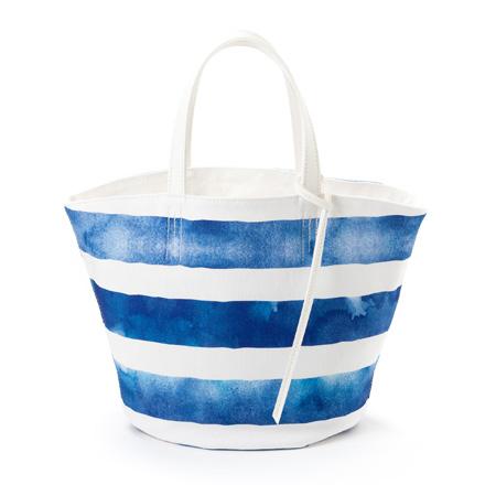 割り引き [宅送] マルシェバッグ リバーシブル スモールサイズ ブルーホライズン 北欧風 バッグ 北欧デザイン マリン ボーダー おしゃれ