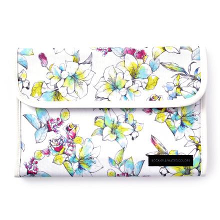 マルチケース 母子手帳ケース ジャバラ ホワイトリリー 2人分 大容量 国内即発送 花柄 ボタニカル柄 お得