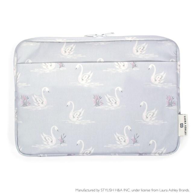 国際ブランド LAURA ASHLEY パソコンケース 日本メーカー新品 13.3インチ Swans ノートパソコン ラミネート スリーブケースpc おしゃれ かわいい インナーケース