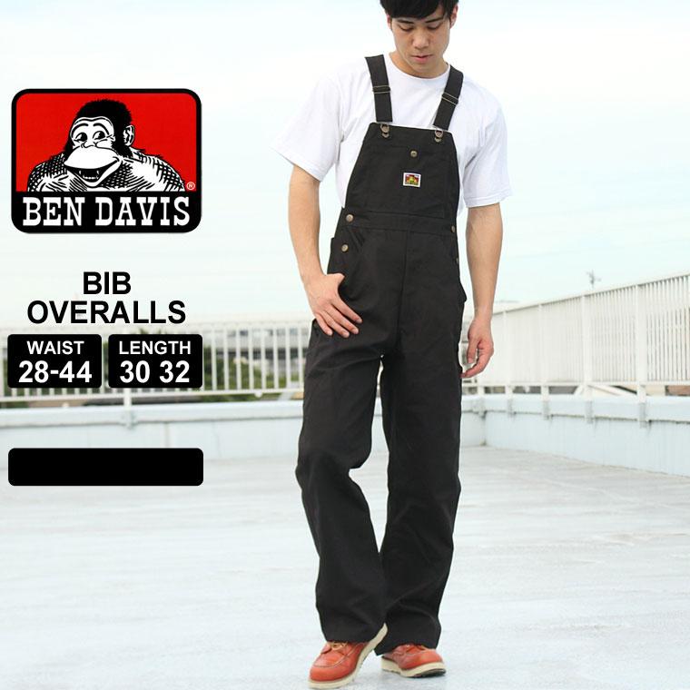 ベンデイビス オーバーオール ダック ボタンフライ ブラック メンズ 大きいサイズ 404 USAモデル|ブランド BEN DAVIS|作業着 作業服
