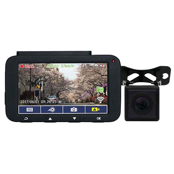 【送料無料】 ドライブレコーダー 車載カメラ 高画質 ドラレコ 3インチ 大画面液晶 駐車監視 検知 WDR対応 Wi-Fi 32GB SDカード付 無線LAN対応 Journey Plus【Journey-P】HD-innowa