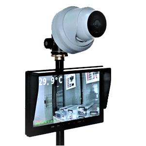 コロナ電業の体表面温度監視カメラが激価販売 体表面温度監視カメラシステム TFC-100 サーマルカメラ 気質アップ 激安超特価 体温 発熱 マスクしたまま 店舗 飲食店 非接触 検知