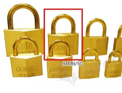 《 セット販売:6個 》真鍮南京錠 84MBシリーズ [84MB 50] - アバス(ABUS)