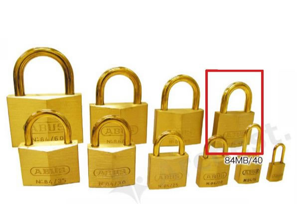 《 セット販売:12個 》真鍮南京錠 84MBシリーズ [84MB 40] - アバス(ABUS)