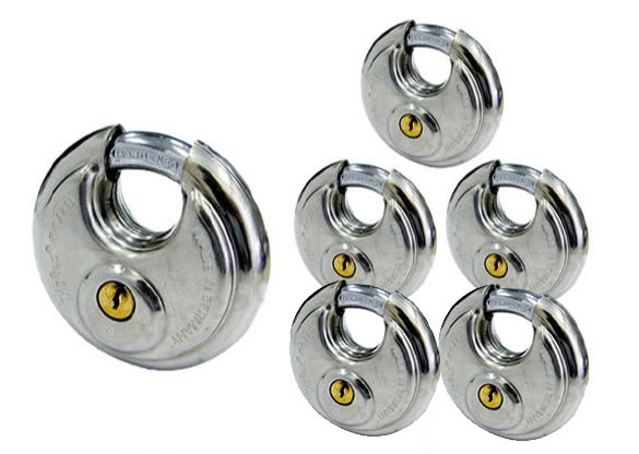 《 セット販売:6個 》ディスカス 円盤形南京錠 [24 70] - アバス(ABUS)