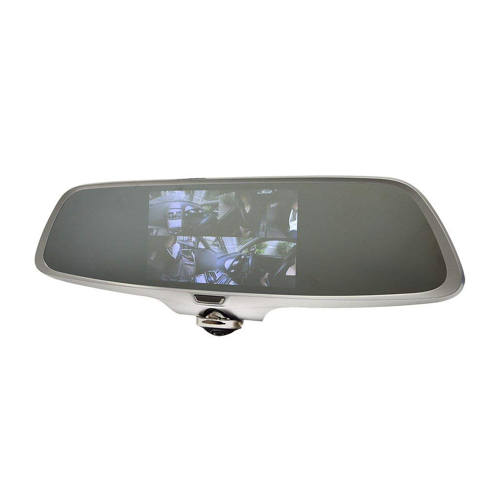 サンコーのドライブレコーダーが激価販売。 360度全方向を撮影。横からや後ろからの追突も逃さず全部撮影するルームミラー型ドライブレコーダー ミラー型360度全方位ドライブレコーダー[CARDVR36]-サンコー 車用品 バイク用品 カーナビ カーエレクトロニクス