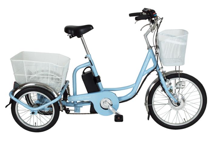 【代引不可】電動アシスト機能付きで坂道もぐんぐん進みます! しっかり安定走行の三輪自転車 アシらくチャーリー 電動アシスト三輪自転車[MG-TRM20EB]-ミムゴ サイクリング 電動アシスト自転車