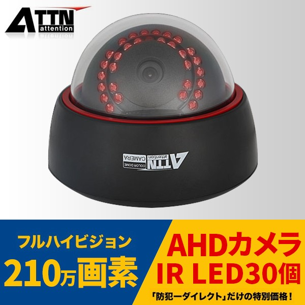 AHD 屋内用ドーム型監視カメラ, AHD-D1080PS[3.6mm],防犯カメラ,監視カメラ,遠隔監視,防犯システム,防犯・防犯カメラ 屋外用監視カメラ,AHD200万画素