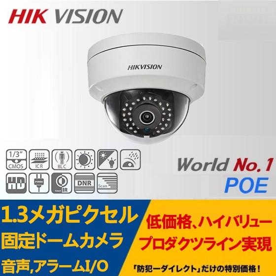 IP CAMERA /DS-2CD2110F-IS 1.3メガピクセル屋外用 ネットワーク固定ドームカメラ 音声,アラームI/O