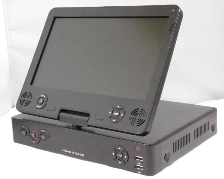 【10インチモニター一体型録画機が登場 大容量ハードディスク内蔵】AHD、TVI、960H対応4ch監視用デジタルレコーダーYG-AHD1080P4DVR-M