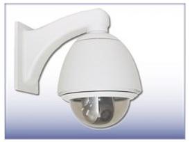 E120 ドームハウジング ネットワーク カメラ 屋外設置用 (壁面用電源BOXなし)