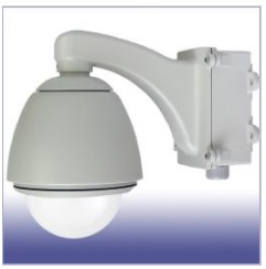 E120D ドームハウジング ネットワーク カメラ 屋外設置用 (壁面用電源BOX付)