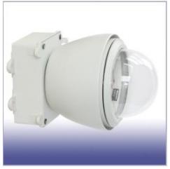 E120YOKO 屋外防滴防塵・ファンヒーター付 ドームハウジング 横型 (電源BOX付き)