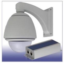 E120-POE ドームハウジング ネットワーク カメラ 屋外設置用 POE電力分岐/12V出力可能(電源BOXなし)
