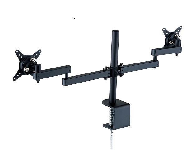 【安心の1年間保証】GH-AMCB1-H VESAマウント規 75mm/100mmに対応 2軸2アーム横並び 液晶ディスプレイアーム クランプ式