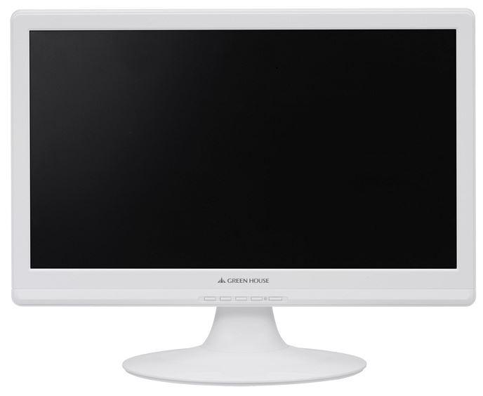 GH-LCW19A-WH(ホワイト) 縦横比16:9のスピーカー内蔵18.5型ワイド液晶ディスプレイ【安心の3年間保証対象製品】