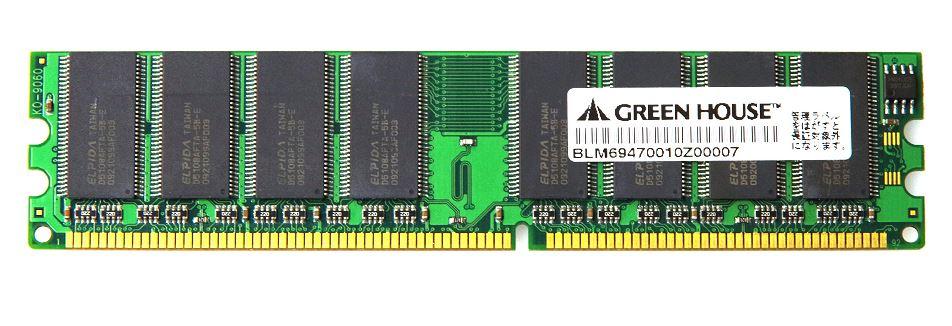 GH-DR400シリーズ デスクトップPC向け 400MHz(PC3200)対応 184pin DDR SDRAM DIMM GH-DR400-1GB