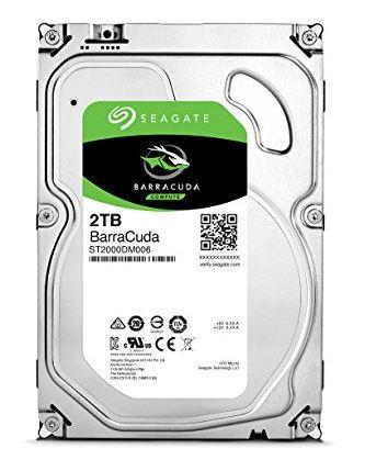 Seagate 内蔵ハードディスク 3.5インチ 2TB PCユーザー向け BarraCuda ( SATA 6Gb/s / 7200rpm / 2年保証 ) 正規代理店品 ST2000DM006