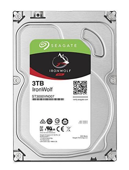 Seagate 内蔵ハードディスク 3.5インチ 3TB 高耐久 NAS サーバー ゲーム 映像編集向け IronWolf NAS ( SATA / 3年保証 ) 正規代理店品 ST3000VN007