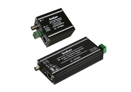 【SeeEyes】12V/PoE給電機能付 LANコンバータ SC-IPC0801 電源アダプター付属