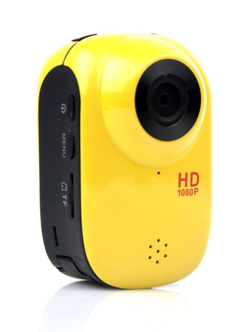 ウエラブルスポーツ用ハイビジョンカメラ(黄色)