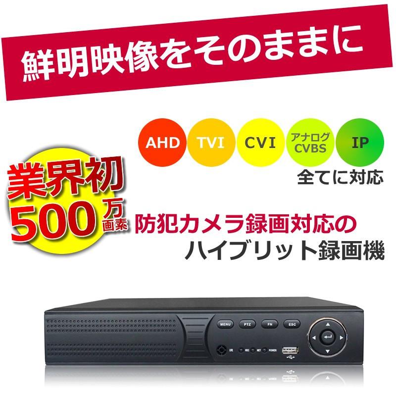 (送料無料)防犯カメラ レコーダー 500万画素対応 XVR 録画機 AHD/TVI 1080P (2TB)