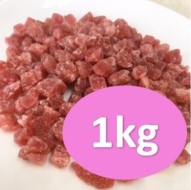 ドライストロベリーダイス5ミリ 1kg パン材料 70%OFFアウトレット お菓子材料 ドライフルーツ ドライいちご 最新