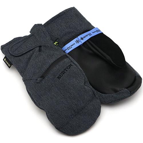 2019/2020 Burton MENS GORE-TEX UNDER MITT Denim バートン メンズ ゴアテックス アンダーミット 国内正規品 スノーボード スノボ グローブ メンズ 男性用 送料区分:S