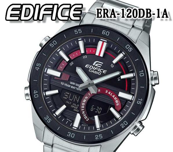 即日発送対応 あす楽 送料無料 カシオ CASIO メンズ 腕時計 エディフィス EDIFICE 100m防水 アナデジ クオーツ クロノグラフ era-120db-1a アナログ ステンレス