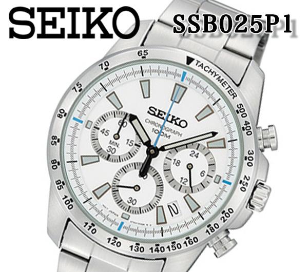 あす楽 セイコー SEIKO 腕時計 メンズ セイコー クロノグラフ SSB025P1 100m防水 ステンレス ミネラルガラス 人気 ブランド アナログ タキメーター