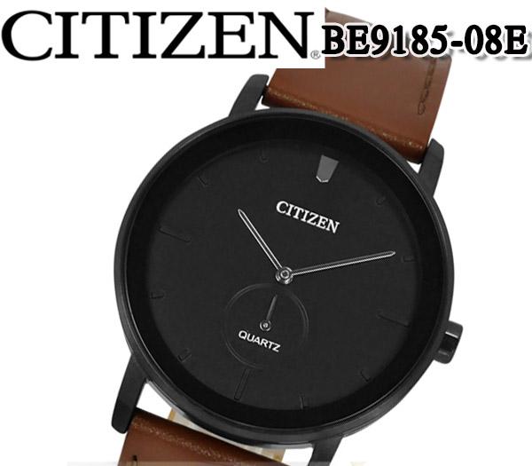 あす楽 送料無料 CITIZEN シチズン クオーツ メンズ 腕時計 ビジネス プレゼント スモールセコンド BE9185-08E メンズ レザー ベルト アナログ