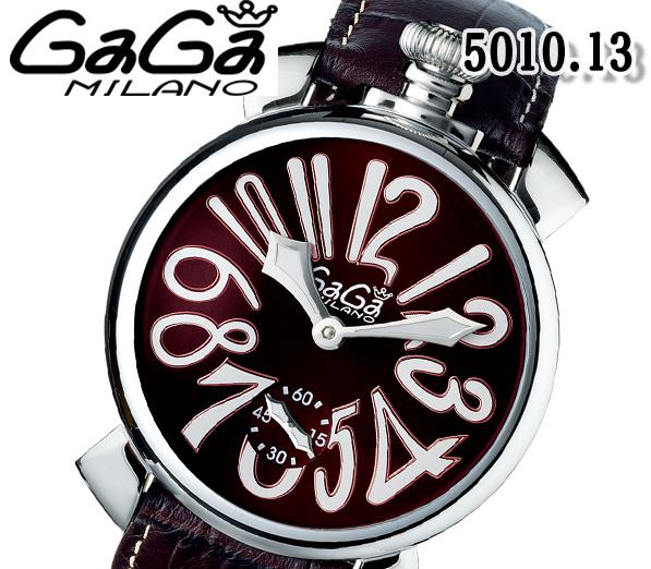 送料無料 新品 ガガミラノ 腕時計 メンズ GaGa MILANO レディース クオーツ マヌアーレ スモールセコンド 46MM ブラウン 5010.13 レザー 人気 ブランド ウォッチ おすすめ プレゼント