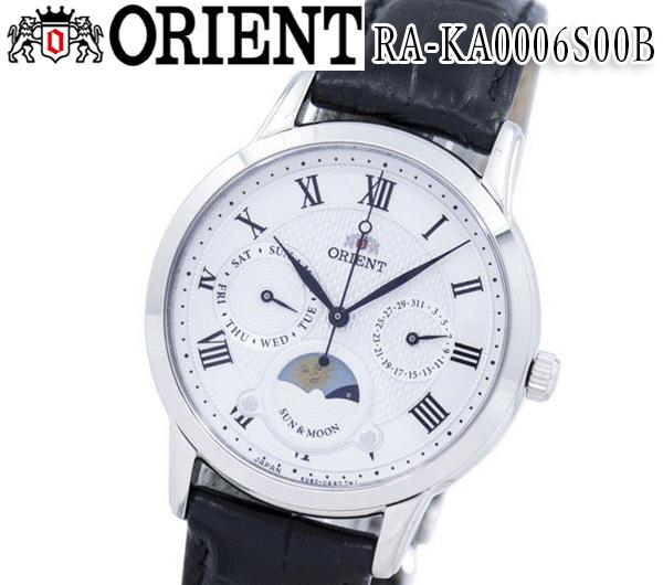 あす楽 送料無料 オリエント ORIENT オリエント レディース 腕時計 RA-KA0006S00B クラシック クオーツ レザーベルト サン&ムーン おすすめ ホワイト アナログ
