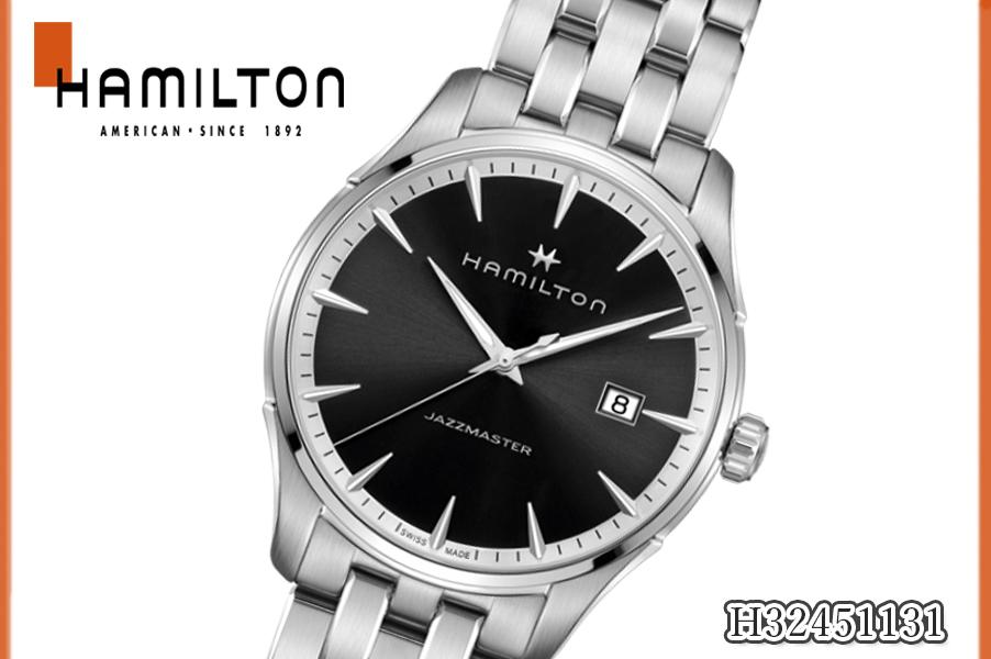 【送料無料】【新品】ハミルトン HAMILTON ジャズマスター ジェント メンズ H32451131 メンズ Jazzmaster Gent メンズ 腕時計 クオーツ ステンレススチール カレンダー