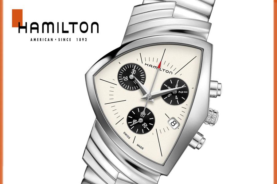 【送料無料】【新品】ハミルトン HAMILTON ベンチュラ メンズ 腕時計 H24432151 クォーツ スポーツ カジュアル オシャレ ステンレス NEWモデル