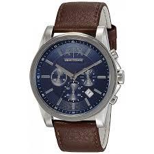 即日出荷 送料無料 ARMANI EXCHANGE アルマーニ エクスチェンジ メンズ腕時計 Chronograph ( クロノグラフ) メンズ 男性用 ネイビー×ブラウン アンティークステッチレザー革 ax2501 【あす楽】オススメ ギフト