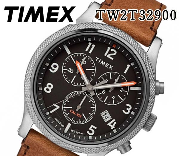 あす楽 送料無料  TIMEX タイメックス メンズ 腕時計 アライド LT クロノグラフ 42MM レザー ベルト アナログ TW2T32900 人気 おすすめ プレゼント カレンダー