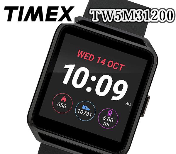 あす楽 送料無料 TIMEX タイメックス 腕時計 ブラック スクエア スマートウォッチ クオーツ デジタル 40mm メンズ TW5M31200 人気 おすすめ プレゼント ブラック