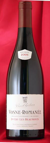 ヴォーヌ・ロマネ レ・ボーモン[2008]パスカル・ラシュー750ml Vosne Romanee Les Beaumonts  Pascal Lachaux