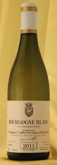 ブルゴーニュ・ブラン Bourgogne Blanc[2011] 750mlコント ジョルジュ ド ヴォギュエ Comtes Georges de Vogueフランス ブルゴーニュ ワイン 白