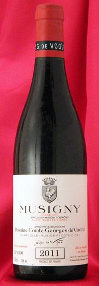ミュジニー V,V Musigny Vieilles Vignes [2011] 750mlコント ジョルジュ ド ヴォギュエ Comtes Georges de Vogueフランス ブルゴーニュ ワイン 赤