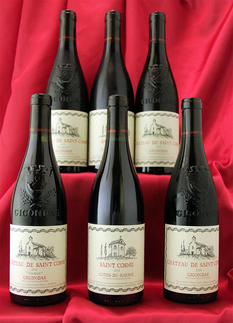 Ch.de St Cosme デイリー6本セットCotes du Rhone フランス ローヌ ワイン セット